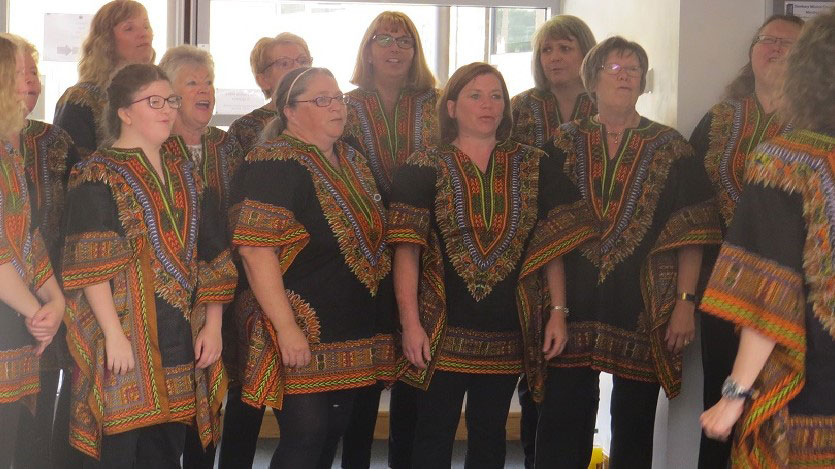 Looking good in our African tops.